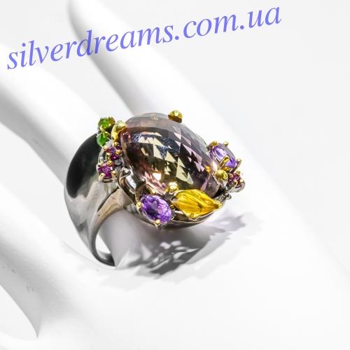 Серебряный перстень с аметрином