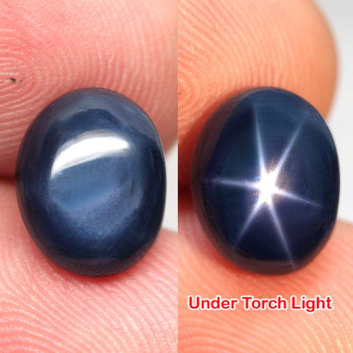 Натуральный звёздчатый сапфир 9,18 кт