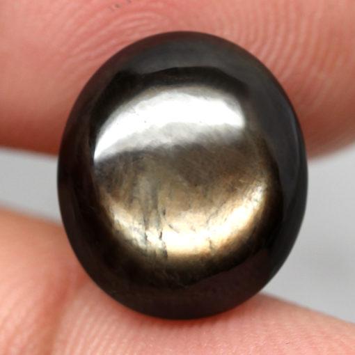 Натуральный чёрный звёздчатый сапфир 11,82 кт