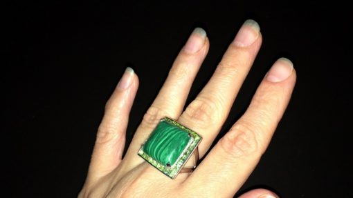 Малахитовый перстень в серебре