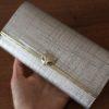Кожаный кошелёк золотого цвета