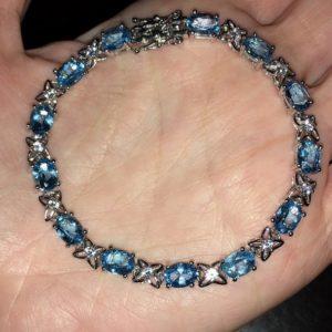 Топазовый браслет в серебре
