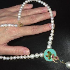 Жемчужное ожерелье в серебре