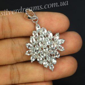 Аквамариновый кулон в серебре