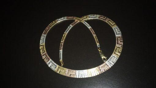 Серебряное колье-цепочка в тройной позолоте
