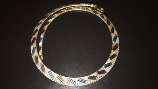 Серебряная цепь/колье с мультипозолотой