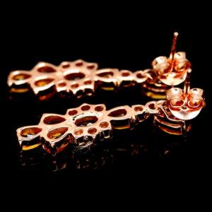 Серебряные серьги с цитринами